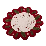 Peppermint Christmas Candle Mat Osenburg-Barn Red