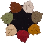 Autumn Leaves Candle Mat Black