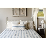 Grain Sack Stripe Queen Bed Cover