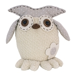 Brown & White Dot Owl - 9 x 6 x 7.5 in