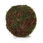 Moss and Vine Ball: Green, 3 inches