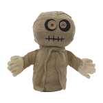 Button-Eyed Mummy Doll - 5 x 4.25 x 8.5 in