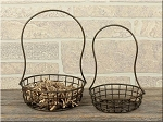 Metal Standing Egg Basket Set of 2