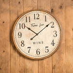 WOODEN WINE BARREL CLOCK