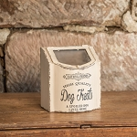 SMALL WHITE DOG TREAT BOX
