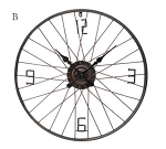 Metal Bike Wheel Clock
