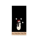 Snowman With 3 Stars Towel