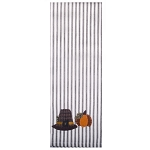 Pilgrim Pumpkin Black-White Ticking Towel