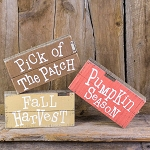 Small Salvage Fall Pallet Set of 3