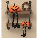 JACK-O LANTERN GNOME WITH PLAID LEGS & BOOTS SMALL 4.75