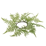 Light Green Fern Candle Ring - 4.5 in