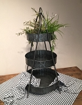 FARMHOUSE CHECK SHORT TABLE RUNNER BLACK/WHITE 14