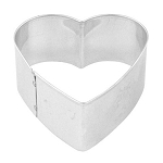 Fox Run™ Heart Cookie Cutter: Stainless Steel, 2 x 2 inches