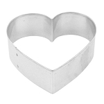 Cookie Cutter - Heart - Tinplate - 3 inches