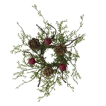 Red Berry & Cypress Mini Candle Ring - 1.5 in