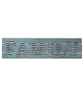 Galvanized Family Sign 40