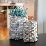 Gray Willow Oval Baskets