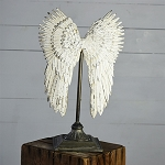 TABLETOP ANTIQUE ANGEL WING