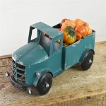 TEAL TIN PICK-UP TRUCK