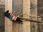 Handmade Americana Flag Crow on Stick 15