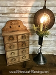 Colebrook Handmade Tin Table Lamp Reflector Light