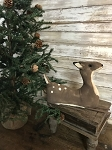 Handmade Primitive Fawn Deer Laying 11