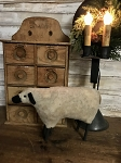Handmade Primitive Standing Sheep 12
