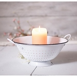 Decorative Colander in White