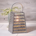 Cheese Shredder Accent Light in Galvanized Tin