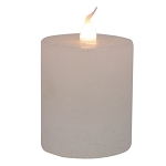 White Votive Timer Candle- 2 x 3 in