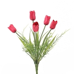 Tulip Bush 5 Stem Bunch with Grass 10