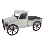 Whitewashed Antique Truck - 13 x 6.5 x 7 in