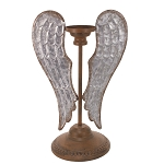 Metal Angel Wing Candle Holder - 9 x 6 x 13.75 in