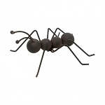 Solid Black Metal Ant Art 6.75 x 6.3 x 2.75