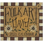 Folk Art by David 2021 Mini Wall Calendar