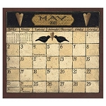 Folk Art by David 2021 Magnetic Calendar Pad
