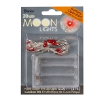 Moon Lights Battery Operated- Copper Wire - 20 White Heart Lights