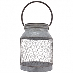 Tall Galvanized Mesh Bucket