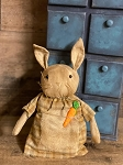 Handmade Bunny Rabbit in Dress with Carrot 8
