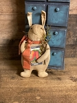 Handmade Bunny Rabbit with Scarf, Book and Florals 10