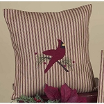 Ticking Cardinal Pillow
