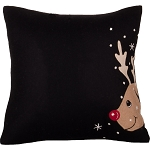 Reindeer Pillow Black