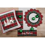 Festive Flannel PIllow Red