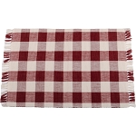 Buffalo Check Barn Red-Buttermilk Placemat