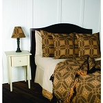 Smithfield Jacquard Bedcover Queen Black