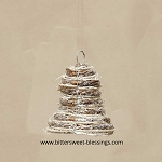 CHAMPAGNE CHIC TWIG BELL ORNAMENT 4