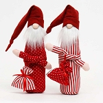 RED SLEEPY SANTA WITH BAG 2 ASSORTED DOTS/STRIPES LARGE 3