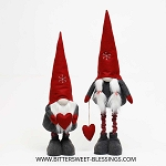 GNOME WITH SNOWFLAKE HAT, HEART AND TELESCOPING LEGS