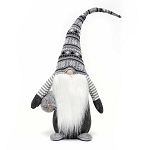 NISSE GNOME WITH GREY/WHITE SWEATER HAT 27