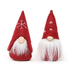 RED MINI GNOME ORNAMENT WITH SAWFLY, WOOD NOSE & WHITE BEARD 2 ASSORTED STYLES - PRICE PER INDIVIDUAL PIECE 2